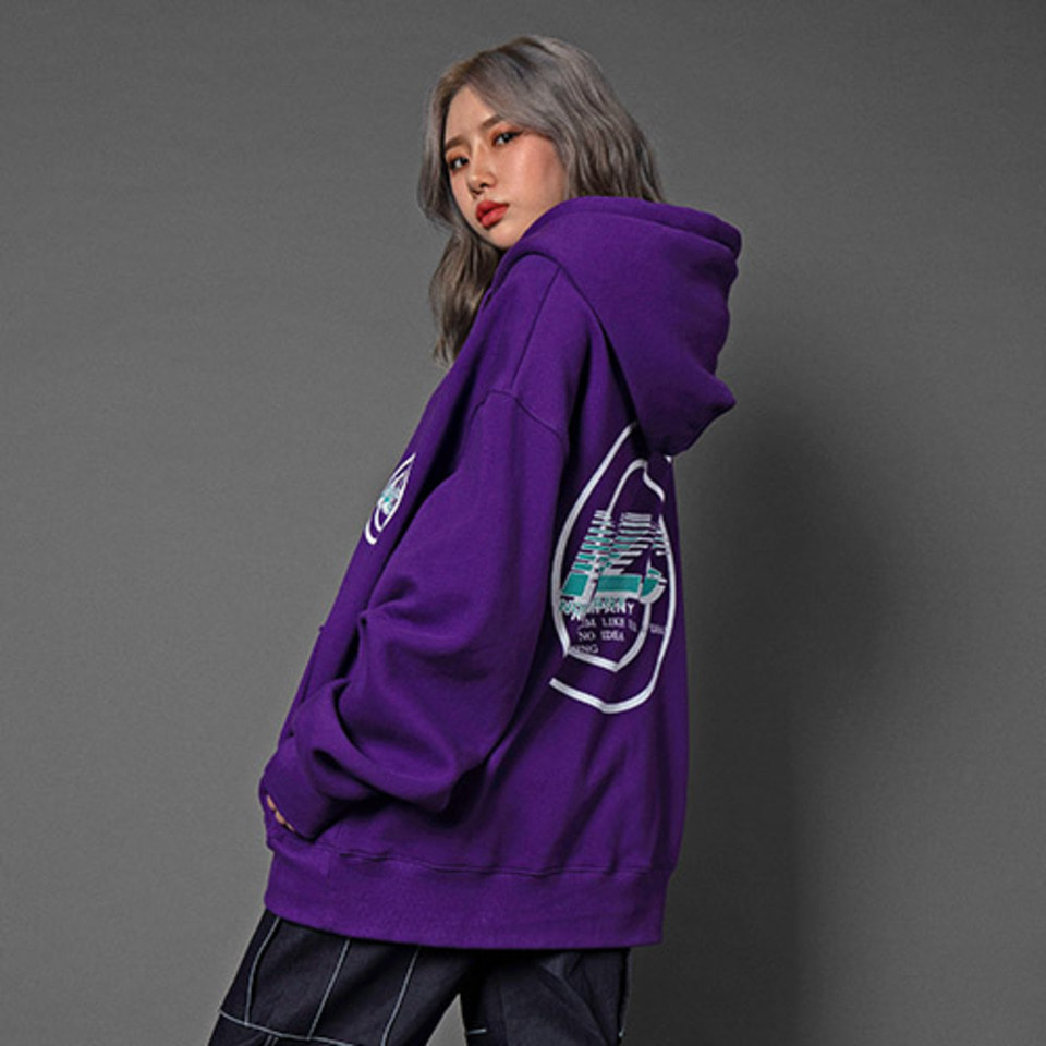 [Noizy Company] NZC CIRCLE HOOD (PURPLE)