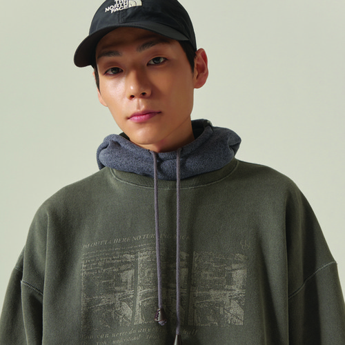 [CHOISI]Faded Sweatshirt, Charcoal *(기모추가)