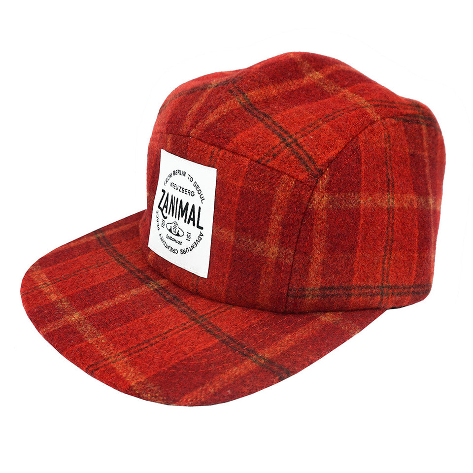 [zanimal]Zanimal Wool Campcap Red Check