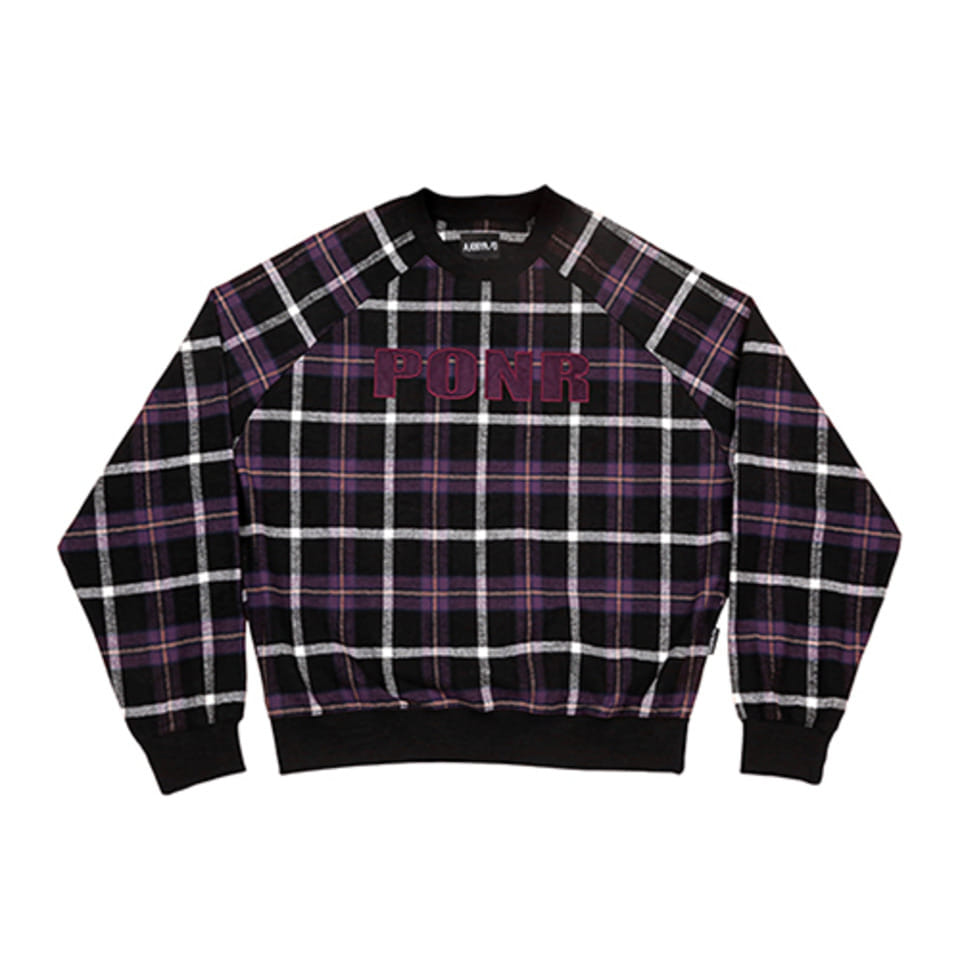 [AJOBYAJO] PONR Check Sweatshirt [Black]