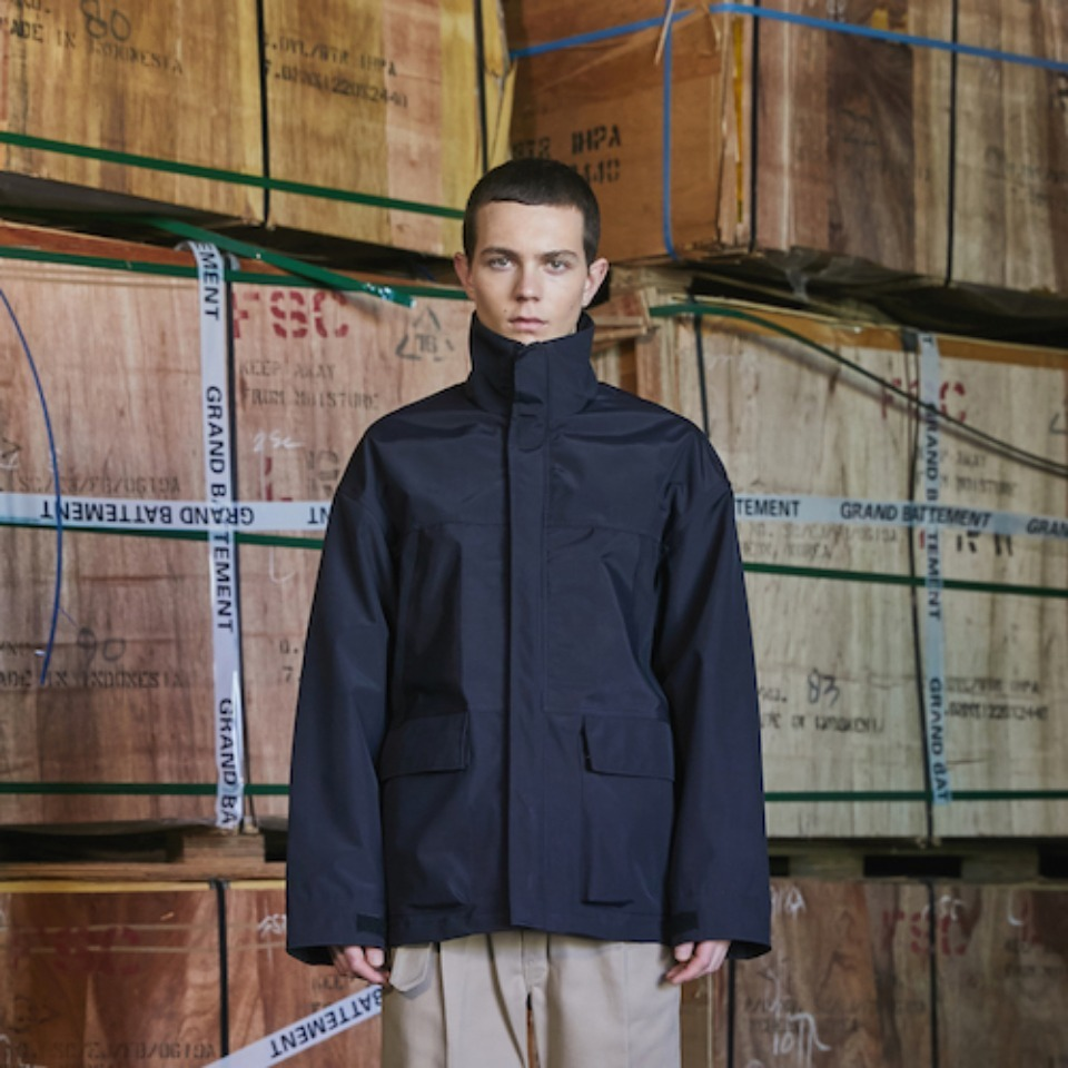 [GRAND BATTEMENT]THE NORTH MOUNTAIN 3LAYER jacket black