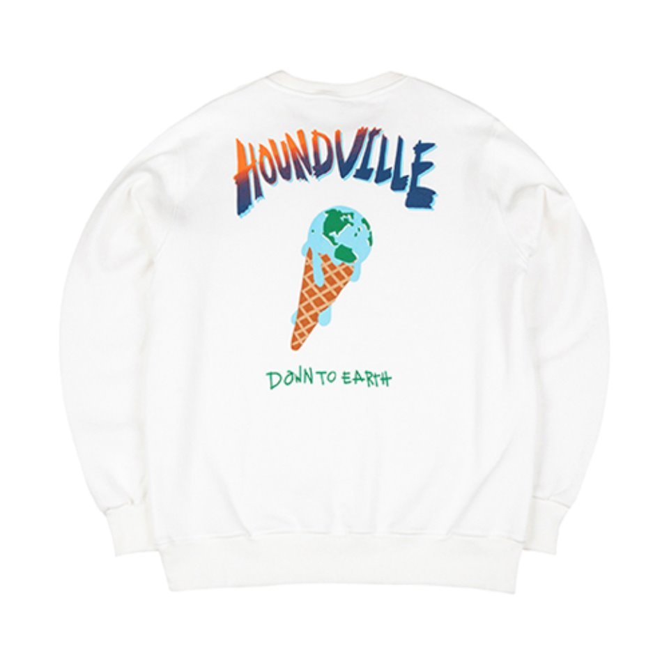 [하운드빌]MELTING DOWN crewneck off white (양기모)