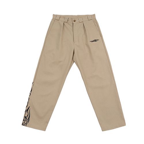 [AJOBYAJO FINK LABEL] Tapered Chino Pants Tribal [Beige]