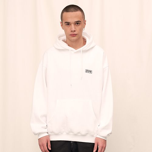 [OY] EMBROIDERY  HOODIE - WH