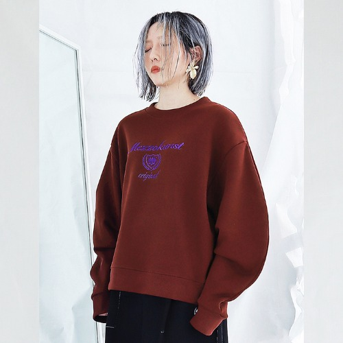 [MEZZOKUNST] UNISEX ORIGINAL SWEAT SHIRT - BROWN