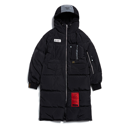 [STIGMA]TIGER DUCKDOWN LONG PADDING JACKET - BLACK