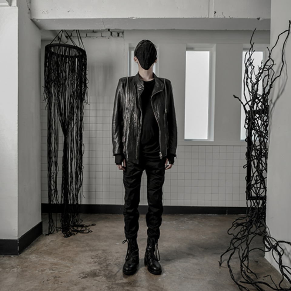 [A;UFSTAND] Calf leather jacket - black