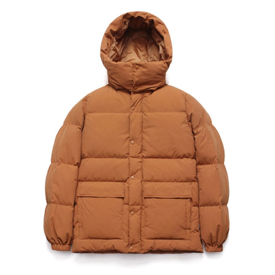[LAFUDGESTORE] Duck Down Half Parka_Autumn Maple