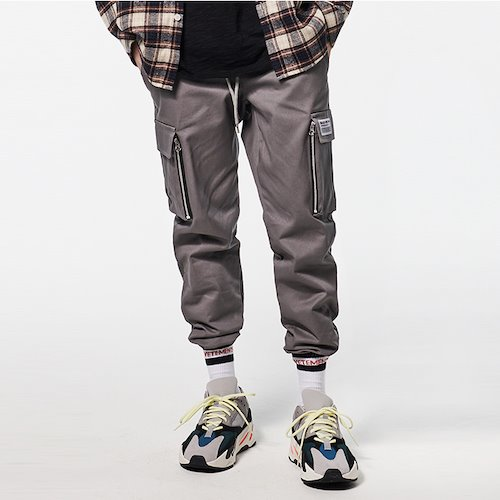 [DEADEND] CARGO ZIPPER JOG PANTS - GRAY