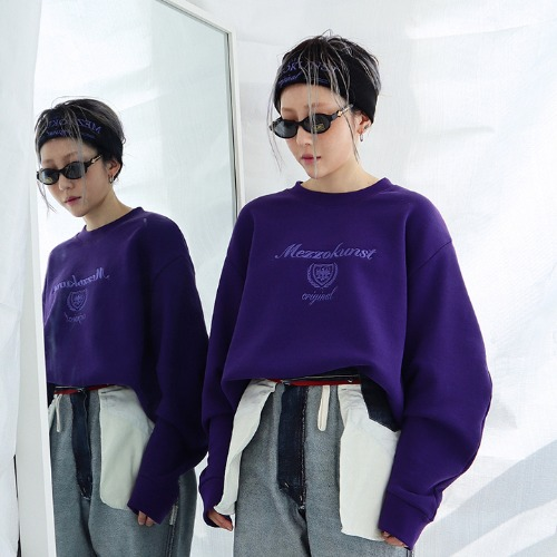 [MEZZOKUNST] UNISEX ORIGINAL SWEAT SHIRT - PURPLE