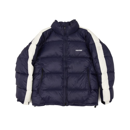 [yeseyesee] LINE WINTER PARKA NAVY