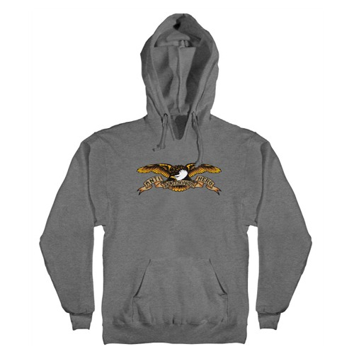 [Anti Hero] EAGLE Pullover Hooded Sweatshirt - GUNMETAL HEATHER