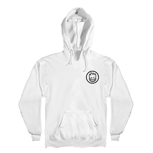 [Spitfire] CLASSIC SWIRL Pullover Hooded Sweatshirt - WHITE / BLACK Prints