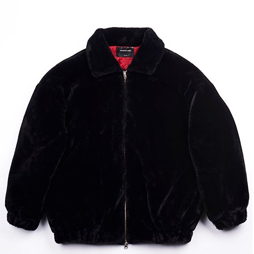 [WANTON] FAKE FOX FUR JAKET BLACK(재발매 7차 리오더)
