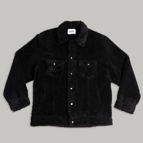 [OBJECT] SHERPA TRUCKER JACKET - BLACK