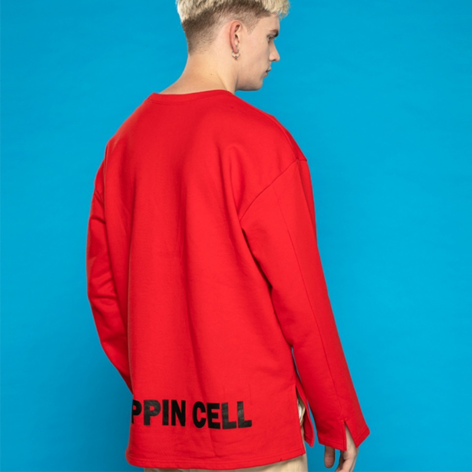 [Trippin CeLL] Vent Long-sleeve Tee (red)