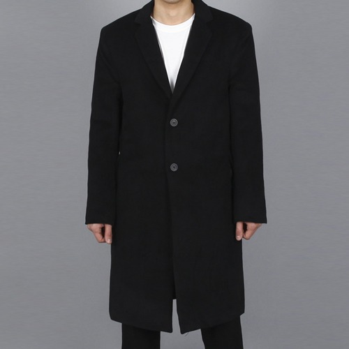 [Xsacky] Sacky 2 Button Single Coat - Black