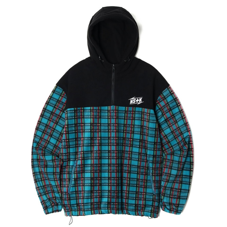 [NSTK] ECHO FLEECE ANORAK BLUE GREEN (NK18A011H)