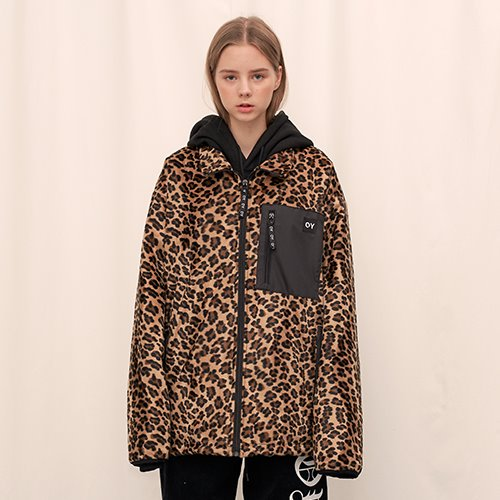 [OY] FLEECE JUMPER - LEOPARD