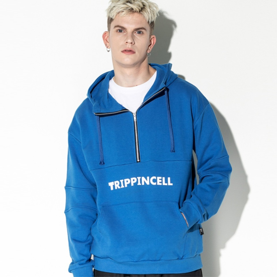 [Trippin CeLL] Trippin zip-up Hoodie (blue)