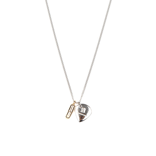 [ANOTHERYOUTH] pick necklace - sliver