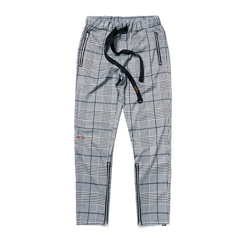 [STIGMA]BrTW ZIPPER JOGGER PANTS - GLEN CHECK