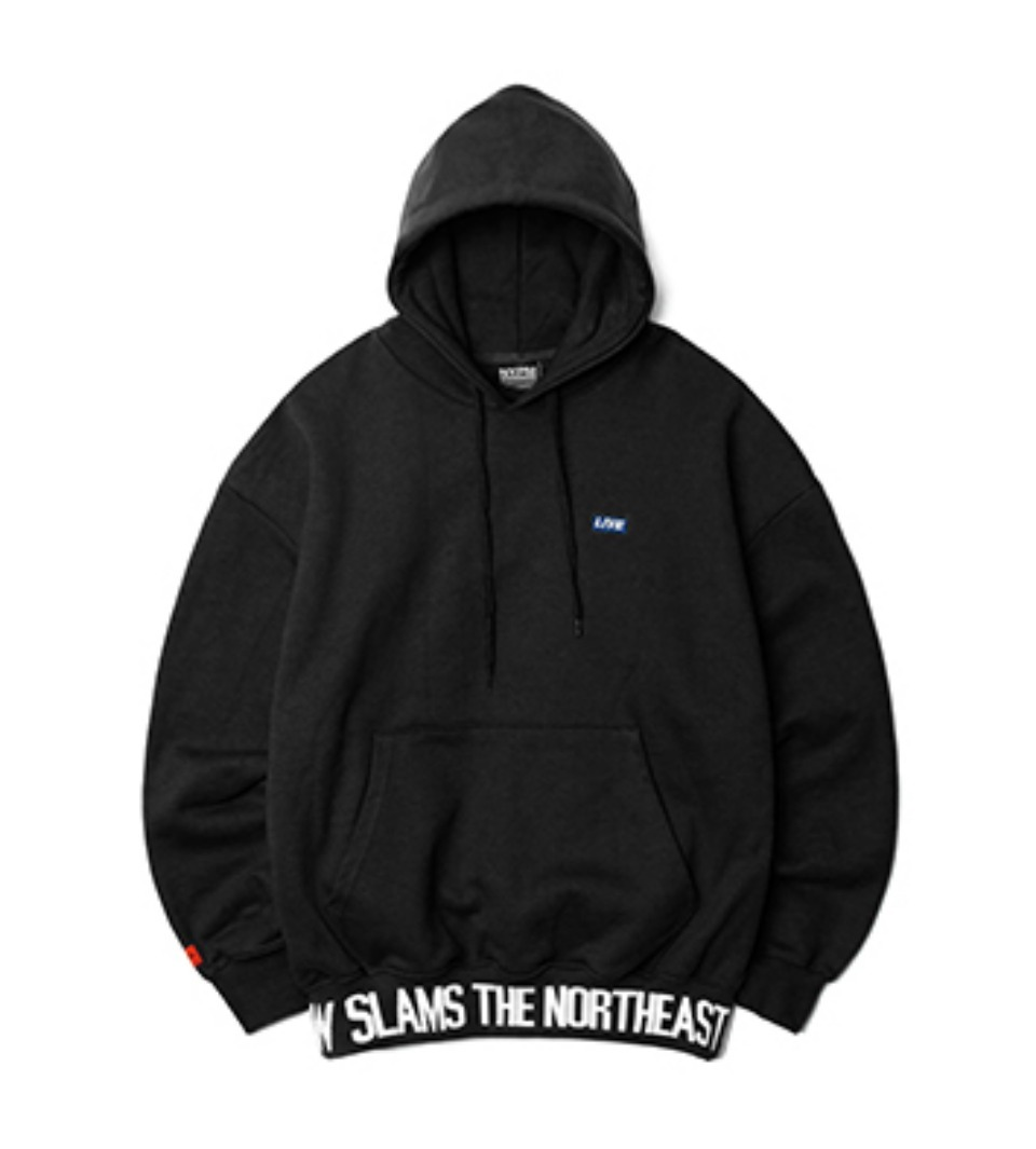 [NP] BREAKING NEWS OVERSIZED HOODIE BLACK (NP18A052H)