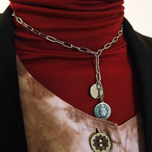 [ASHE CLIFF] TWO COIN NECKLACE