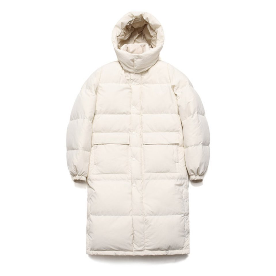 [LAFUDGESTORE] Duck Down Bench Parka_Sweet Corn