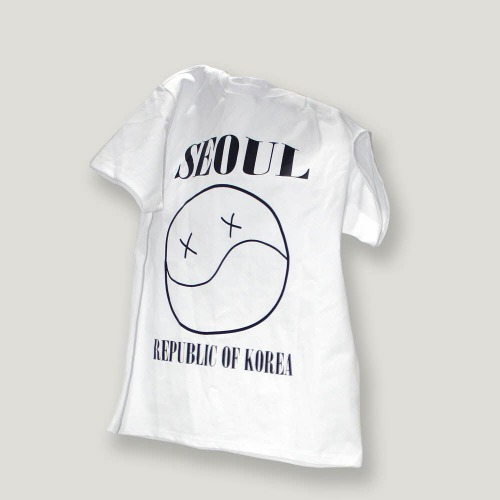 [OBJECT] SEOUL SMILE T-SHIRT - WHITE