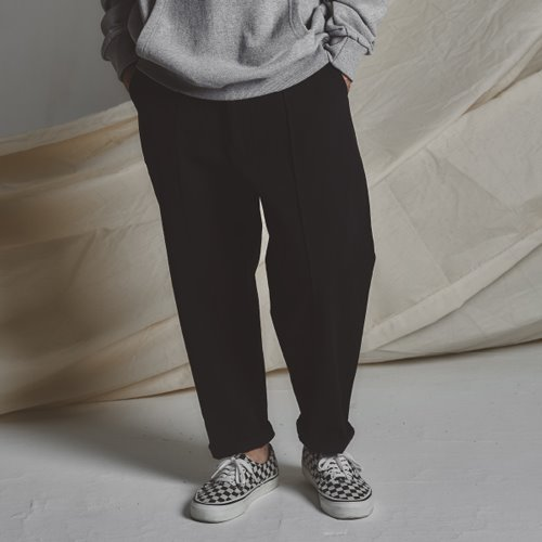 [스테이지 네임]STG Pintuck Wide Pants_BLACK
