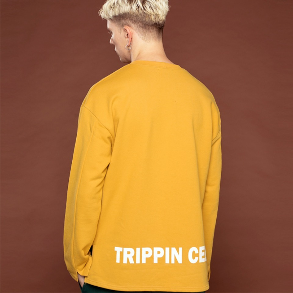 [Trippin CeLL] Vent Long-sleeve Tee (mustard)