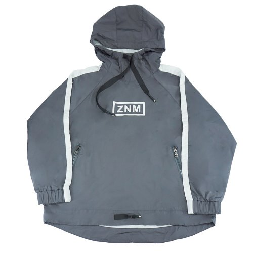 [ZANIMAL]SM Hooded Windbreaker Grey