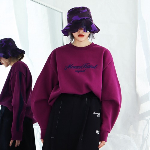 [MEZZOKUNST] UNISEX HIGHER SWEAT SHIRT - PURPLE