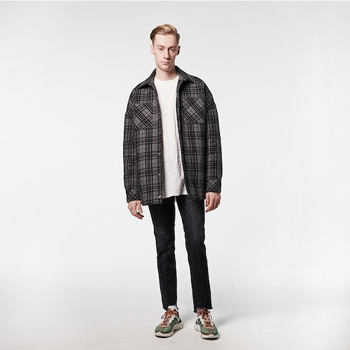 [DEADEND] BLACK FLANNEL PADDING SHIRTS