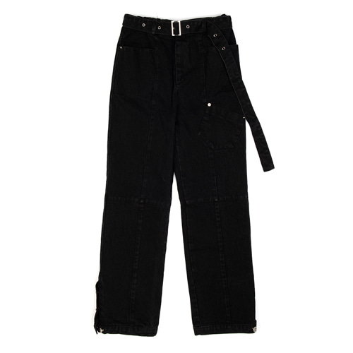 [ANOTHERYOUTH] washed denim pts - black
