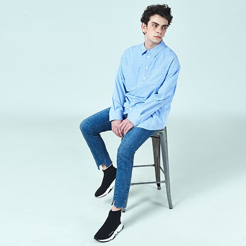[DEADEND] QUOTE SHIRTS - BLUE STRIPE