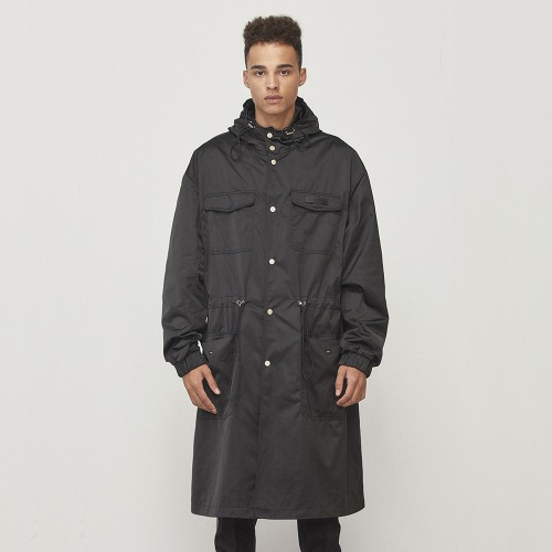 [D.PRIQUE] Oversized Parka Black (D18F331)
