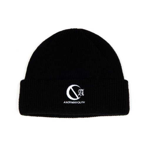 [ANOTHERYOUTH] logo beanie - black