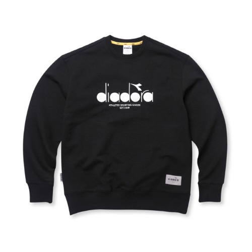 [디아도라] DSKT01UDJ3 CREWNECK SWEATSHIRT - BLACK/WHITE