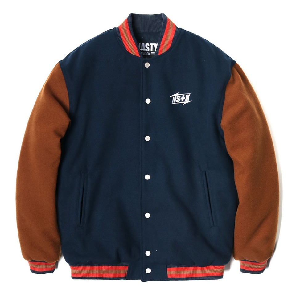 [NSTK] NSTK NARROW VARSITY JACKET NAVY (NK18A118H)