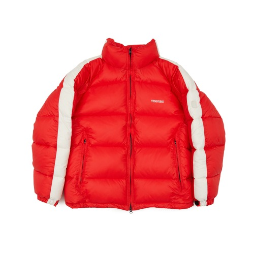 [yeseyesee] LINE WINTER PARKA RED