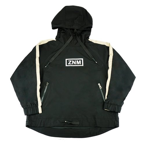 [ZANIMAL]SM Hooded Windbreaker Black