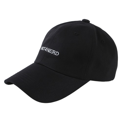 [NOT4NERD] Basic Logo Cap - Black