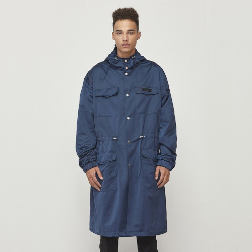 [D.PRIQUE] Oversized Parka Navy (D18F332)