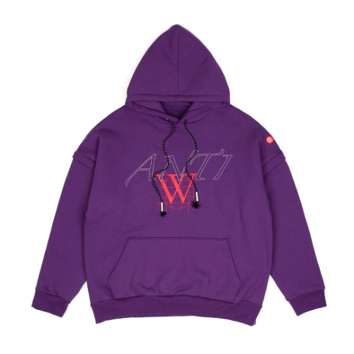 [ANOTHERYOUTH] zipper hoodie - purple