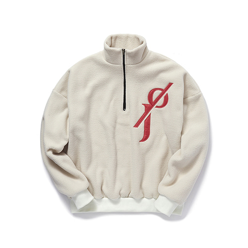 [OJEH] Fleece half zip-up - Ivory