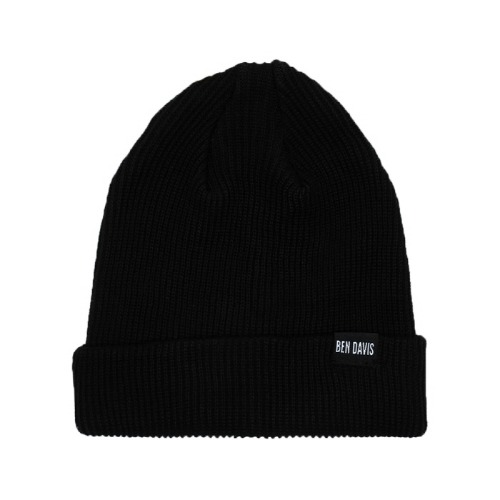 [Ben Davis] LOW KNIT CAP - BLACK