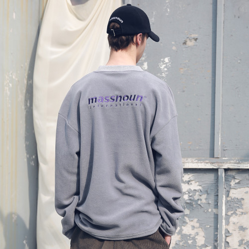[MASSNOUN] FLEECE SL INT LOGO STRING SWEATSHIRT MFECR004-GR