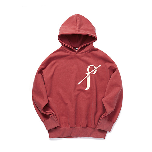 [OJEH] Pigment Hoodie - Red